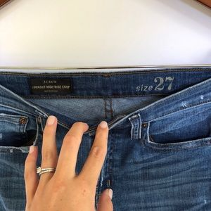 J. Crew Jeans - J. Crew Lookout High Rise Skinny Cropped Jeans